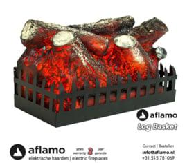 Aflamo Log Basket - Electric insert firebox
