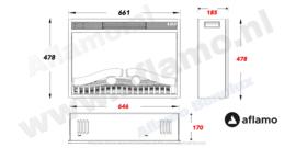 Aflamo LED70 - Elektrische inbouwhaard