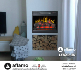 Aflamo LED60 3D - Electric Insert Fireplace