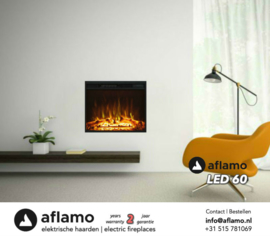 Aflamo LED 60 - Electric insert fireplace