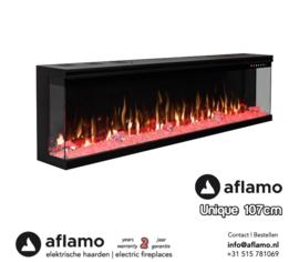3-Zijdige haard inbouw - Aflamo Unique 107cm