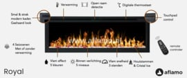 Aflamo Royal 165cm - Electric Built-in Fireplace