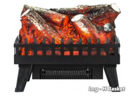Aflamo Logset Large + Heat - Electric insert firebox