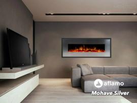 Aflamo Mohave Zilver-RVS - Elektrische wandhaard