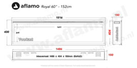 Aflamo Royal 152cm - Electric Built-in Fireplace