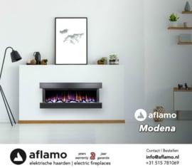 Aflamo Modena Zwart - Elektrische Wandhaard