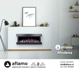 Aflamo Modena Black - Wall Hanging Electric Fireplace