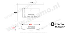 Aflamo Malibu26 Wit- Elektrische wandhaard