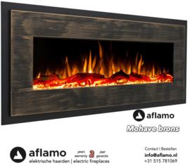 Aflamo Mohave Brons - Elektrische wandhaard