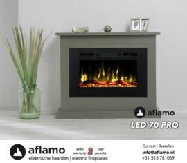 Aflamo LED70 PRO- Elektrische inbouwhaard