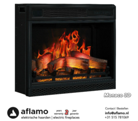 Aflamo Monaco 3D - Electric insert firebox