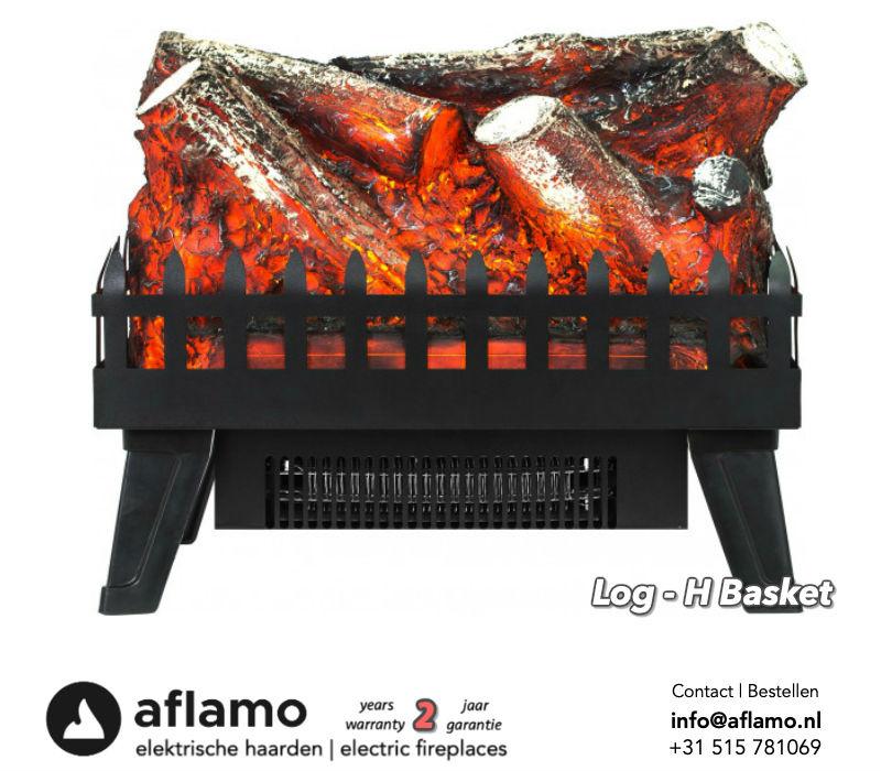 Aflamo Logset Large - Elektrische inzethaard houtset