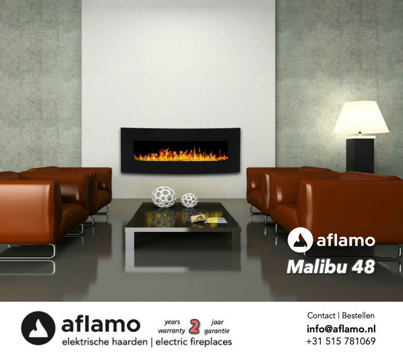 Aflamo Malibu 48 - Elektrische wandhaard