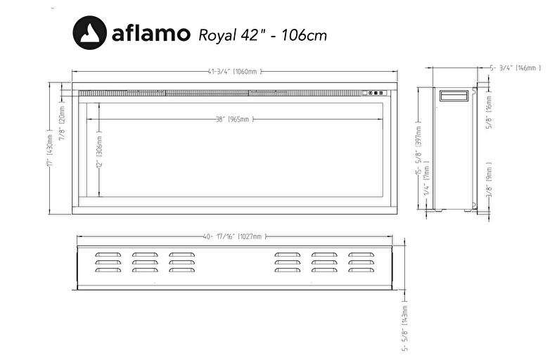 Merk Aflamo; maatvoering Royal Paris 42 106cm
