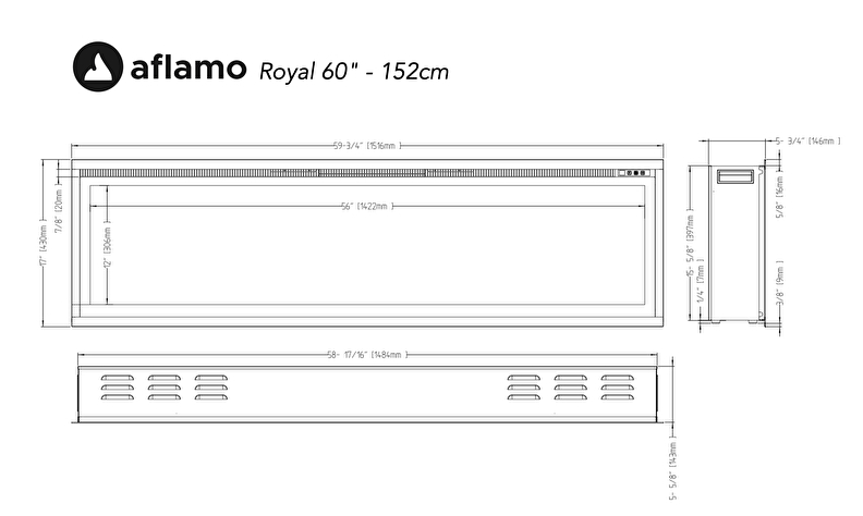 Aflamo Royal Paris 60 cinewall haarden