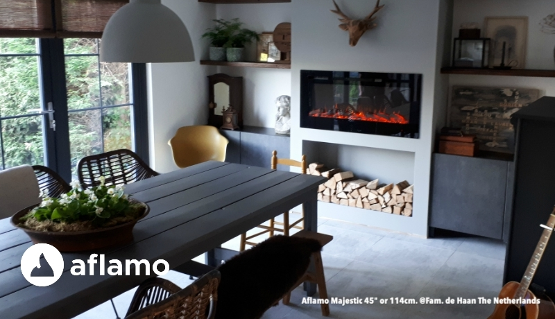 Aflamo modern firesplace Majestic and Royal