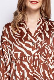 BROWN ZEBRA DRESS