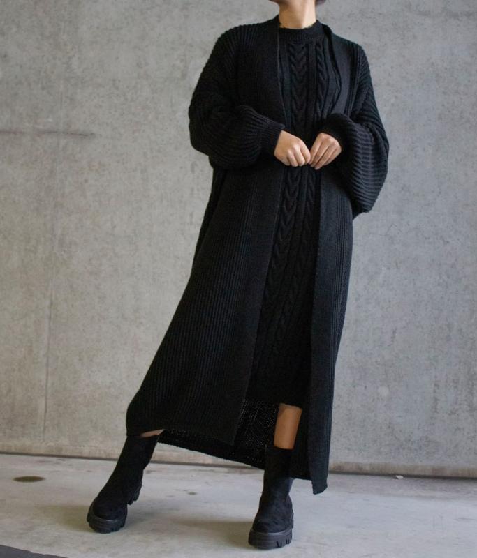 BLACK LONG 2 PIECE DRESS + VEST