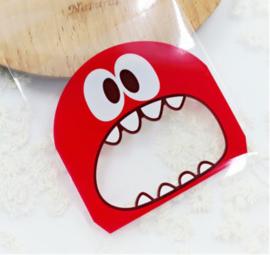 Monsterzakjes rood ( 10 stuks)