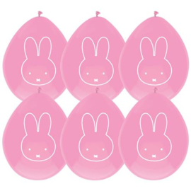 Ballon Nijntje roze ( 6 stuks)