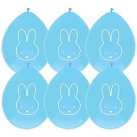 Ballonnen Nijntje blauw (6 stuks)