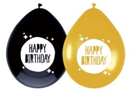 """Ballonnen """"Happy birthday"""" (6 stuks)"""
