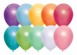 Ballonnen metallic assortie ( 10 stuks)