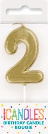 "Kaarsje goud ""2"""
