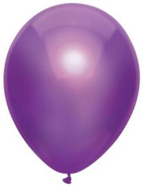 Ballonnen metallic paars ( 10 stuks)