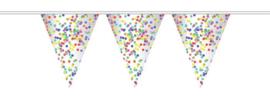 Vlaggenlijn confetti (10m)