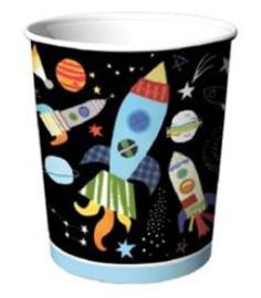 Bekers ruimtevaart ( 8 stuks)