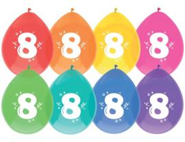 """Ballon """"8"""" (8 stuks)"""