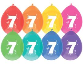 """Ballon """"7"""" (8 stuks)"""