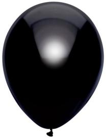 Ballonnen metallic zwart ( 10 stuks)