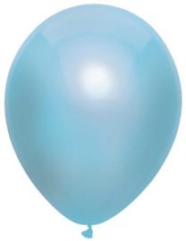 Ballonnen metallic licht blauw ( 10 stuks)