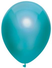 Ballonnen metallic teal ( 10 stuks)