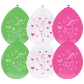Ballonnen paarden ( 6 stuks)