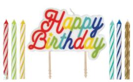 Kaarsje Happy Birthday (13 stuks)