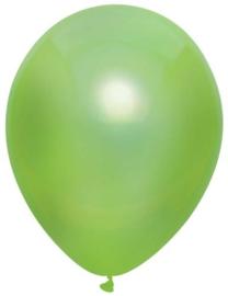 Ballonnen metallic licht groen ( 10 stuks)