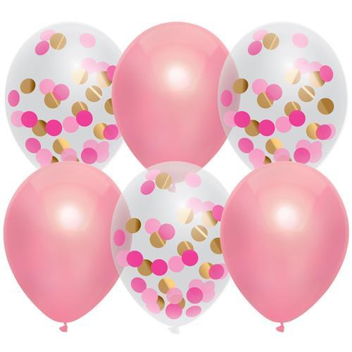 Ballonnen roze (6 stuks)
