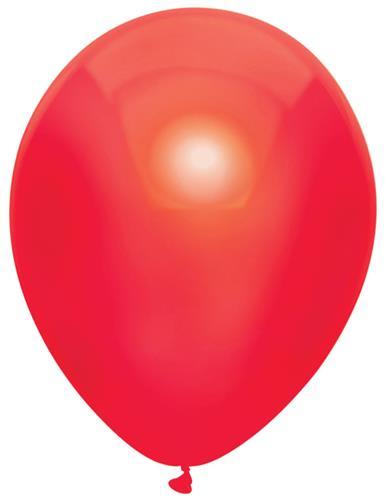 Ballonnen metallic rood ( 10 stuks)