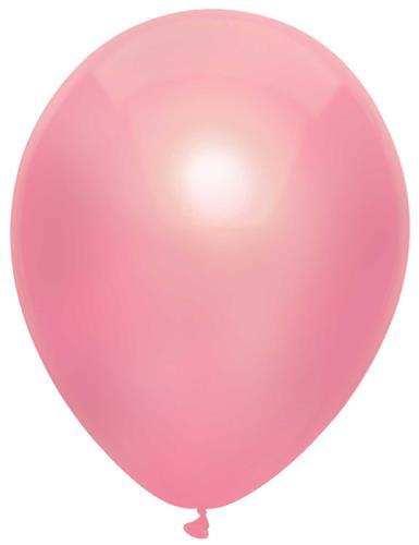 Ballonnen metallic roze ( 10 stuks)