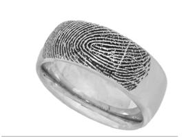 zilver ring met vingerprint