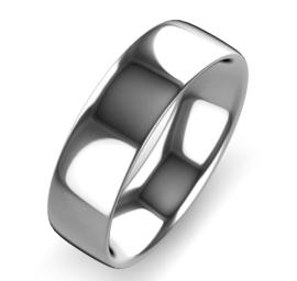 zilver naam ring 8 mm