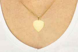 14 kar. goud graveerplaatje hart