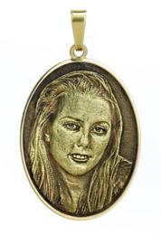 gouden ovale  fotohanger verdiept reliëf