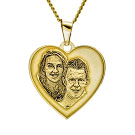 gouden hart fotohanger verdiept reliëf
