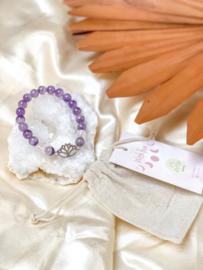 Amethist Lotus Armbandje