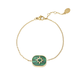 Malachiet Star Armband