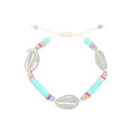 Armbandje SURFING SHELL Mint/Roze